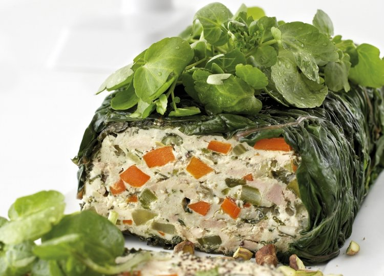Spinach & Chicken Terrine