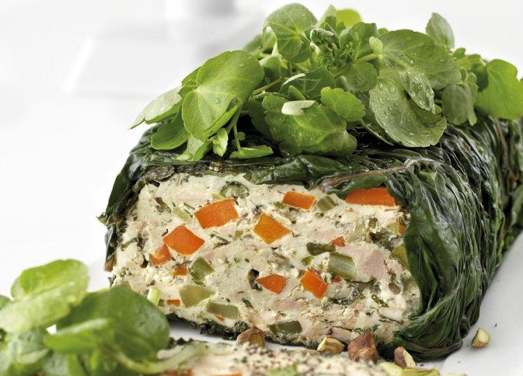 Spinach & Chicken Terrine